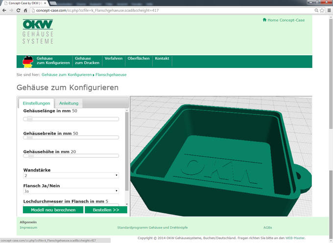 Creabis Developed 3D Web Configurator for Online Prototyping